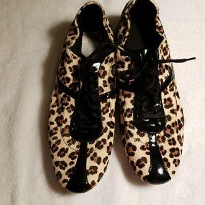 EUC Leopard Print Tennis Shoes